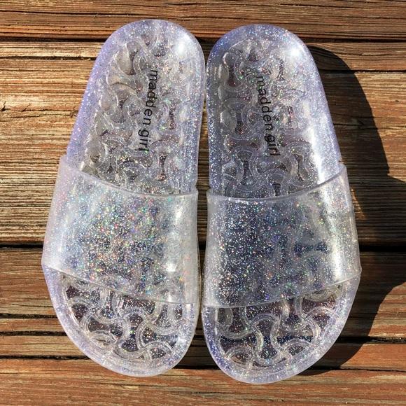 1b172cdea3b3 Madden Girl Other - Madden Girl Glitter Jelly Slides Sandals size 13